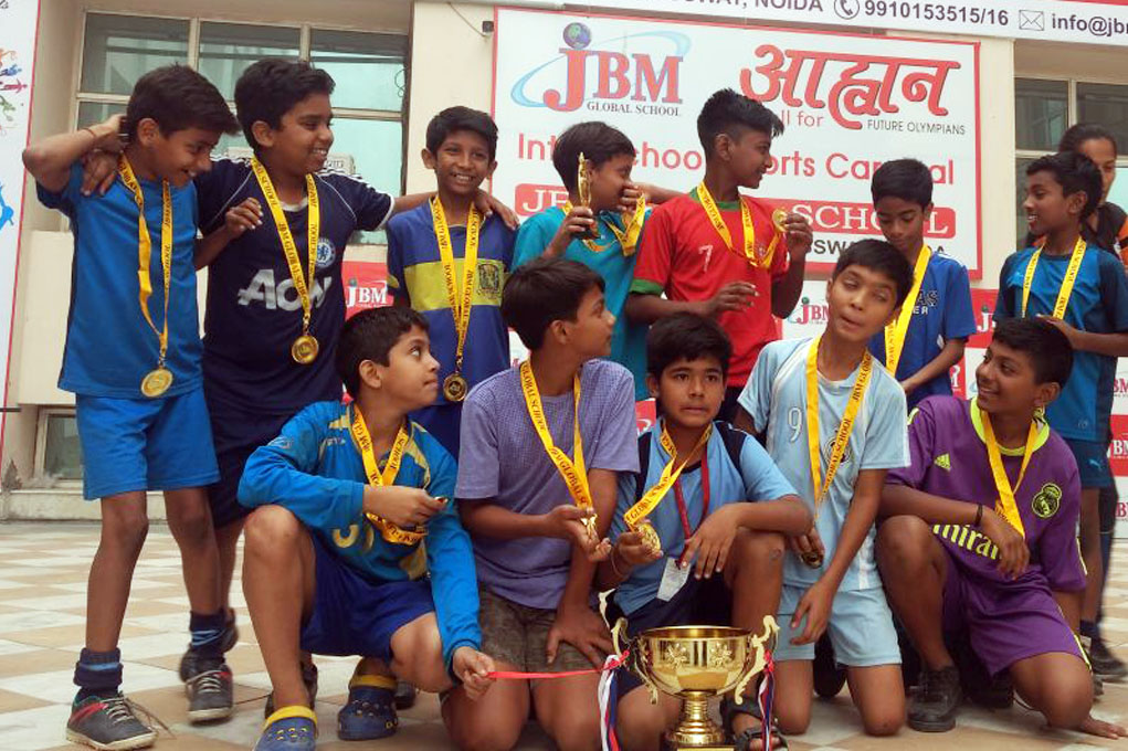 DSM Academy (HTC Sports) Under -12 Team Won the championship of JBM TOURNAMENT held at JBM GLOBAL SCHOOL on 8th October 2017